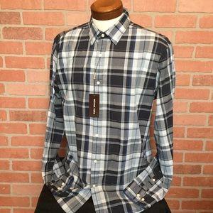 MICHAEL KORS mens slim fit shirt XL blue NWT (3C)